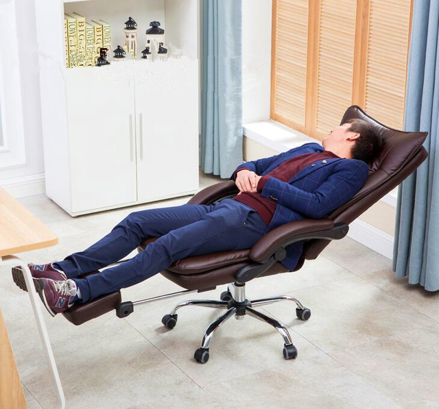 Computer Office Chair Household Boss Lying Chair Super Soft Leisure Break Soft Chair With Footrest