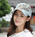 2016 fashion high quality men's and women's spring/summer outdoor cotton denim baseball cap, diamond hat shading