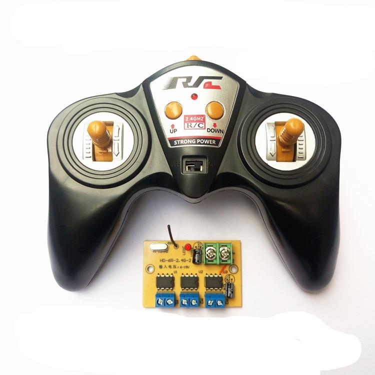 6CH de alta potencia 2,4g 50 Metro control remoto transmitir y receptor de Radio del coche del sistema de nave modelo DIY 6 -15 V 9 V 12 V