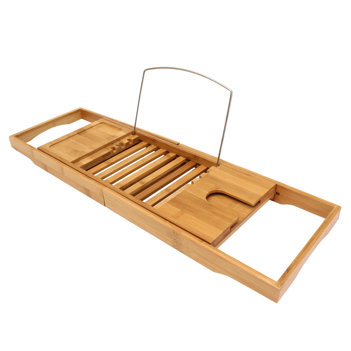 Aliexpress.com : Buy Bamboo Bathtub Caddy Tray Organizer with ...