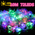 Unique 2016 new year Twinkle light string christmas light AC 220V 10m 72 LEDS Waterproof LED Garland christmas Small bell light