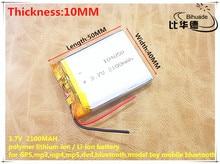 Liter energy battery 3 7V lithium polymer battery 104050 2100MAH Tablet PC navigation mobile power GIY