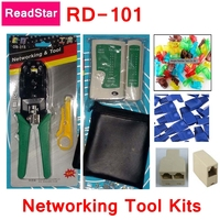 ReadStar Networking tool kit include multi function cable crimper+Knife+Cable tester+20pcs colored RJ45 plug +coupler splitter