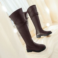 Attack on Titan cosplay long boots Shingeki no Kyojin Over the Knee boots Eren Jaeger Ackerman Shoes 121704