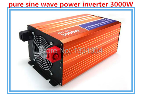 Free Shipping, 3000W Off Grid Tie Inverter DC12V/24V/48V Pure Sine Wave Inverter for Wind Turbine/Solar System, 6000W Peak Power 400w wind generator new brand wind turbine come with wind controller 600w off grid pure sine wave inverter