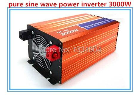 Livraison gratuite, 3000 W Off grille Tie Inverter DC12V / 24 V / 48 V à onde sinusoïdale Pure pour Wind Turbine / système solaire, 6000 W puissance de crête