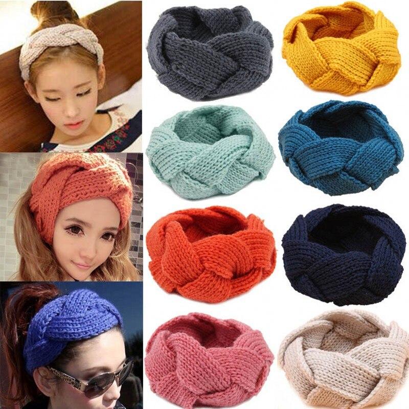Fashion Women Crochet Twist Knitted Head Wrap Headband Winter Ear Warmer Hair Band Soft Braid