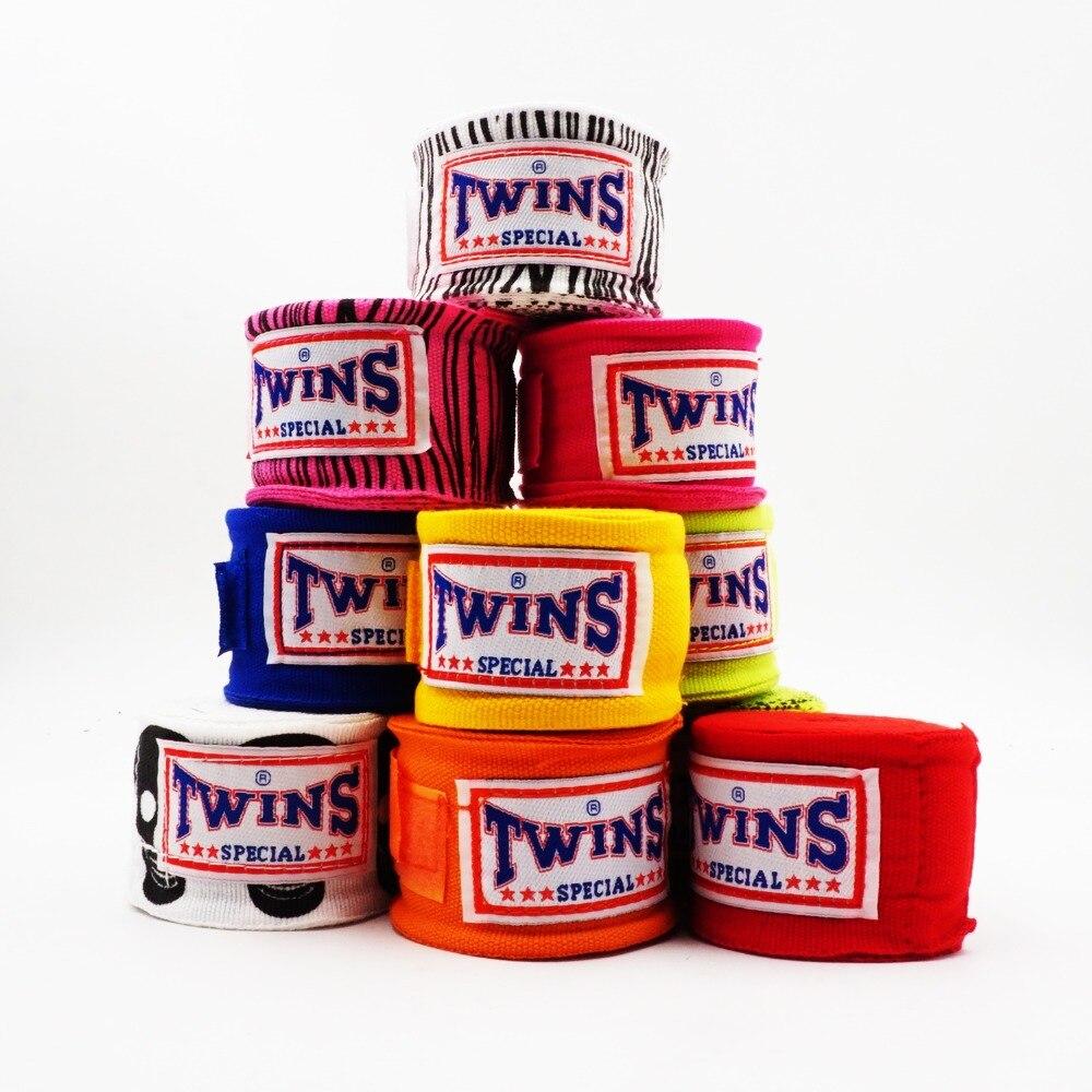 2pcs/pack 5M TWINS Boxing Hand Wraps MMA Kick Boxing Handwraps For Training 5cm Width Bandages Muay Thai Q