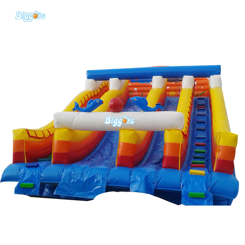 Inflatable Slide Blower: Large Outdoor Inflatable Slide ,Inflatable Jumping Slide