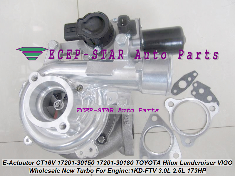 + Электрический привод электромагнитный CT16V 17201-30150 17201-30180 Turbo для TOYOTA Hilux Landcruiser KZJ90 KZJ95 VIGO 1KD-FTV 3.0L 2.5L