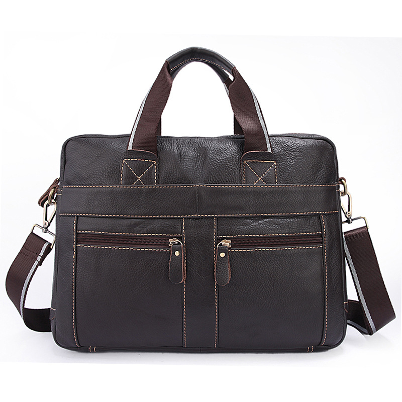 Men Business Briefcase Occident Style Fashion Handbags Top Layer Cowhide Male Large Casual Shoulder Bags zipper Laptop BagMen Business Briefcase Occident Style Fashion Handbags Top Layer Cowhide Male Large Casual Shoulder Bags zipper Laptop Bag