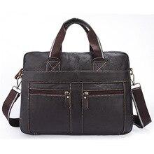 Men Business Lesiure Briefcase Bag Occident Style Fashion Handbag Top Layer Cowhide Male Large Casual Black Coffee Shoulder Bag цена