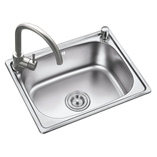 Sink Single Groove Bowl Vegetable Washing Basin Pots 304 Stainless Steel Kitchen Sinks with Faucet Drain Soap Dispenser стоимость