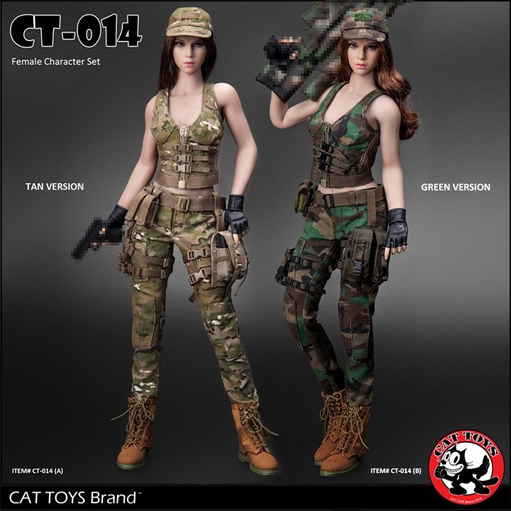 CT014 hot girl 1 6 Scale Sexy Female sniper Combat suit Military Character set head and clothing for seamless body toy gift in Action Toy Figures from Toys Hobbies