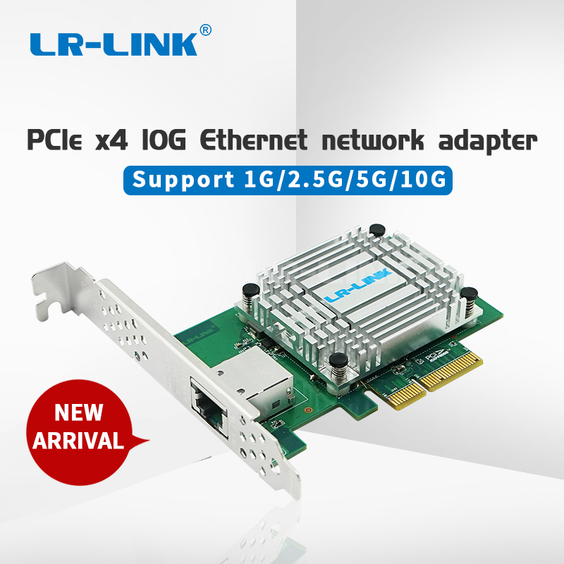 LR-LINK 6880BT PCIe x4 Single Port 10G Gigabit Ethernet RJ45 copper network adapter PC-Express Controller lan card server Nic(China)