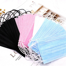 50pcs Non Woven Disposable Face Mask Medical Dental Earloop Activated Carbon Anti-Dust Face Surgical Masks цена 2017