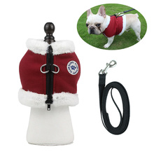 Dog Clothes With Pet Leash Set For Small Dogs Fleece Jacket Cat Harness Vest Dog Cat Clothes Warm Waistcoat Adjustable Bulldog