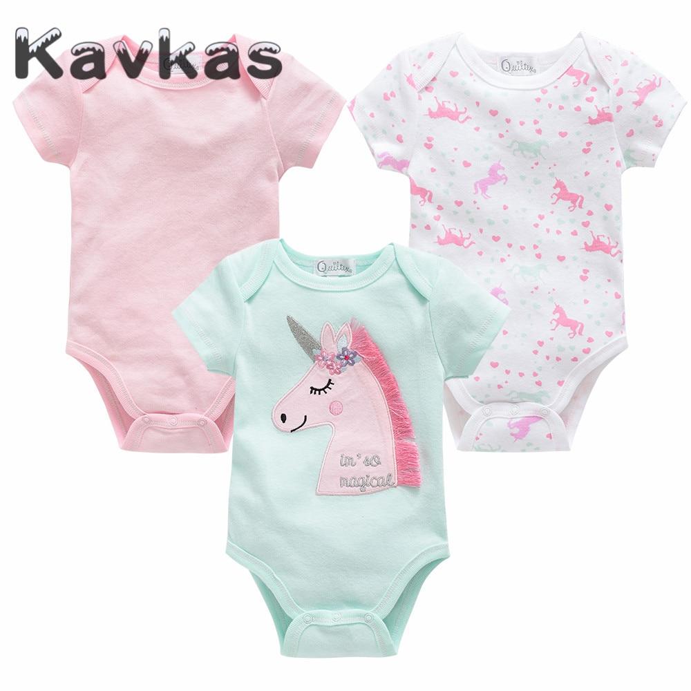 Cute Baby Unicorn Infant Baby Short Sleeve Bodysuit Romper