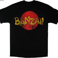 65edbfbc5 Karate Kid Banzai Washed Black T-shirt Quality Print New Summer Style  cotton top tee