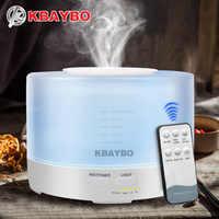 Humidificador de Control remoto de 500 ml KBAYBO aromaterapia difusor de Aroma de aceite esencial con 7 luces LED de Color