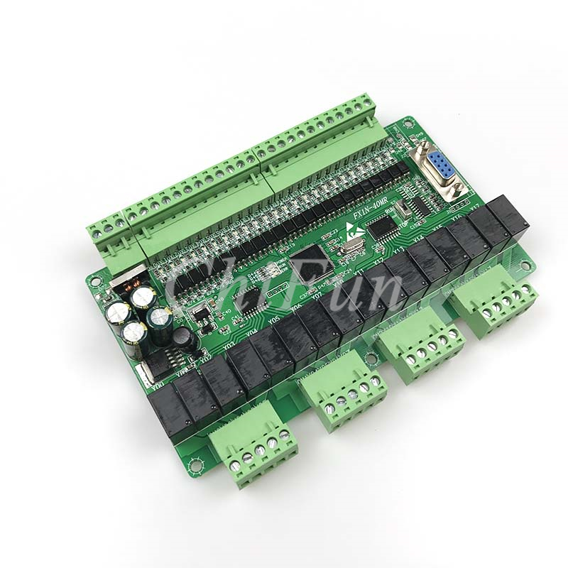 PLC industrial control board FX1N 40MR with 485 MODBUS RTU communication 24 input 16 relay output
