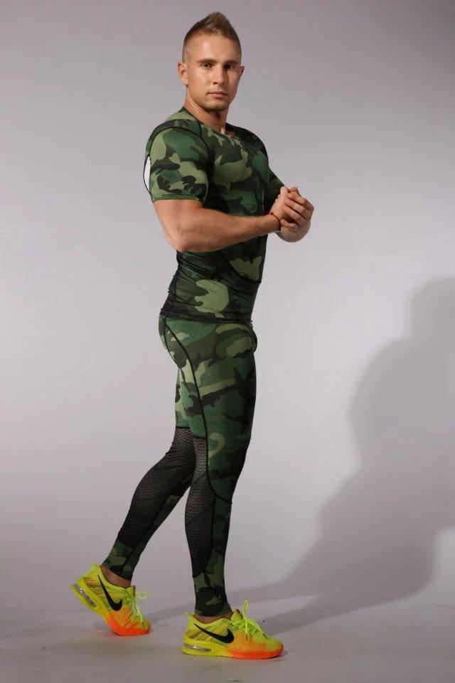 2018 17 <font><b>thermal</b></font> underwear men underwear sets compression underwear men fitness clothing