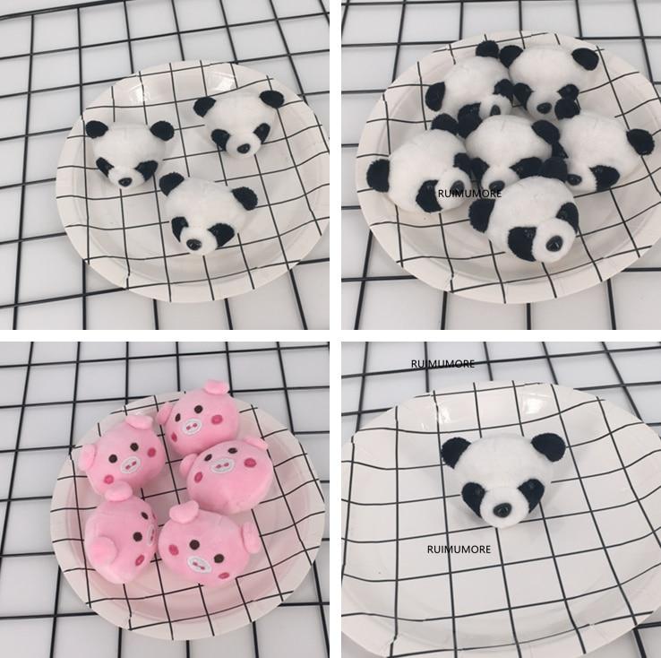 Kawaii Mini Panda Etc 4CM DOLL Wedding Bouquet mini accessories Decor TOY DOLL