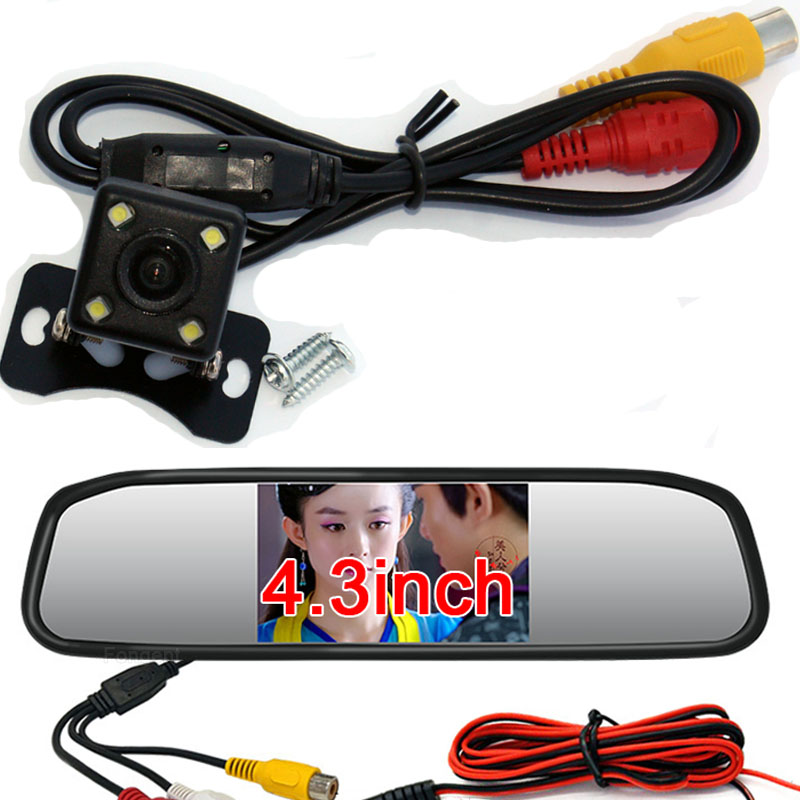 Mini 4.3 / 5Car Rear View Mirror with Camera Navigation Lights Reversing Camera Parking with Camera Parktronic Car-styling