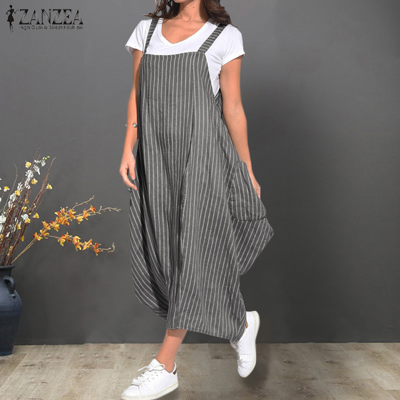 78814011d505c ZANZEA Women Bohemian Summer Sundress Dress Ladies Sleeveless ...