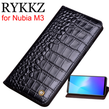 RYKKZ Genuine Leather Flip Case For Nubia M3 Cover Magnetic case M2 Cases Phone