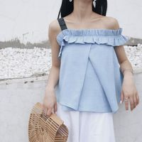 2018 Sale Women Shirts Apparel Sexy Slash Neck Women Tops Tees Off Shoulder Beach Summer Style Blouses Shirt Party Tube Top