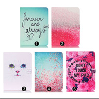 Fashion Painted Stand PU Leather Case Cover For Samsung Galaxy Tab 4 10 1T530 T531T535 With