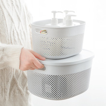 Get more info on the Aprince Bathroom Shower Basket Organizer Household Desktop Storage Basket Plastic Hollow Kitchen Living Room Snacks Debris