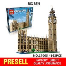 New LEPIN 17005 4163pcs  Big Ben Elizabeth Tower  Model Building Kits Minifigures Brick Toys Compatible Legoe 10253 Gift