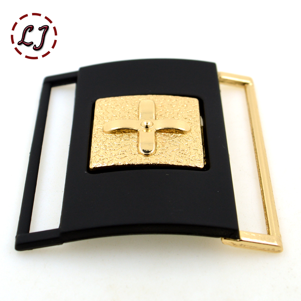 Small buckles for crafts - New Arrived 50mm Women Gold Cilp Square Metal Belt Buckles Crafts Decoration Buckles Diy Garment Sew
