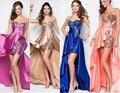 Alta Baixa Vestidos de Baile Querida Vestidos De Noite Azul 2016 Prata Rosa Vestido De Formatura para Meninas Vestido Formatura