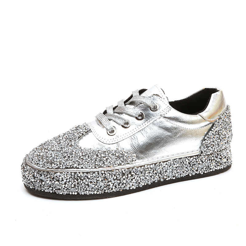 LISM Women s Shoes Flat Sneakers Bling spring explosions sequins with casual  shoes low fashion slipper slip 1c0dc4d9f793