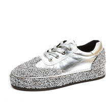 Buy LISM Women's Shoes Flat Sneakers Bling spring explosions sequins with casual shoes low fashion slipper slip breathable classic directly from merchant!