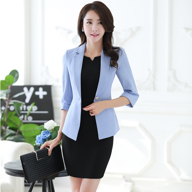 Formal Uniform Design Professional Business Suits With Jackets And Dress for Ladies Office Blazers Women Work Wear Outfits