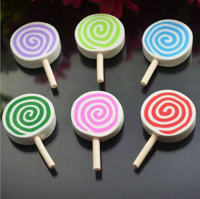 New Arrived Colorful Cartoon Lollipop Shape Handmade Polymer Clay