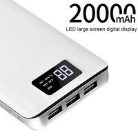 HOCO 3 USB Mobile Power Bank 20000mAh Powerbank Portable Charger External Battery 20000 MAH Mobile Phone