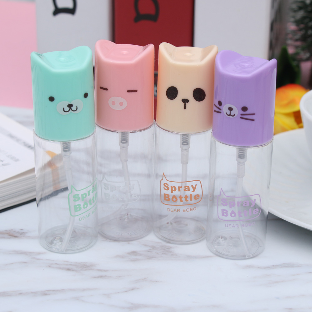 35ML Cute Cat Clear Spray Bottles Mini Perfume Atomizer Travel Use Portable Liquid Cosmetic Containers Pocket Refillable Bottles