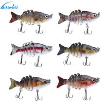 Wobblers Fishing Lure 6 Segment Crankbait Swimbait Fish Lure Isca Artificial Bait With Hook Fishing Tackle Tools 6 Colors