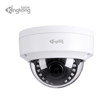 Kingkonghome IP Camera 4MP/2MP Varifocal Lens CCTV Security Vandal-proof Waterproof Outdoor Surveillance Dome IR Camera IP Metal