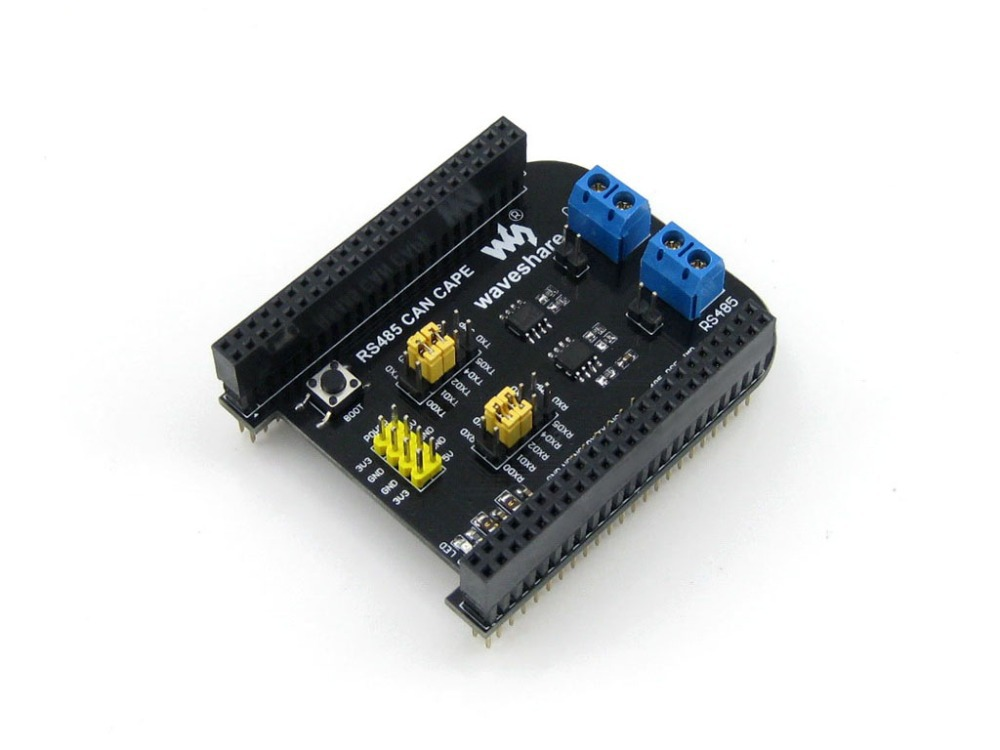 module Waveshare RS485 CAN CAPE Expansion Board Designed for Beagle Bone Black Features RS485 and CAN Interfaces usb to rs485 module black