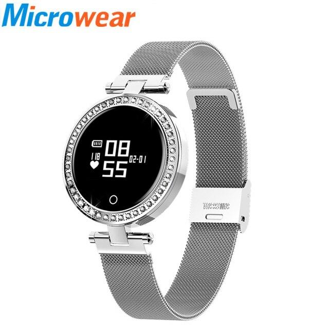 b573e3aee0b9 2019 relojes inteligentes para mujer X10 pulsera inteligente deporte  presión arterial reloj podómetro milanesa IOS Android
