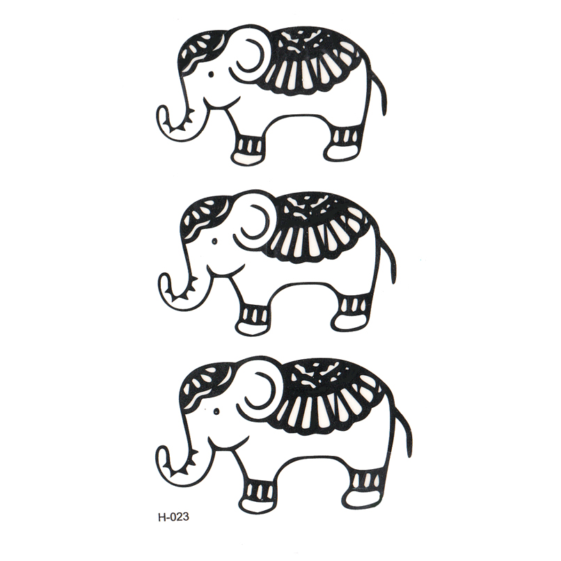 Cut Elephant Body Temporary Tattoos Men Feminino Glitter Tattoo Sleeves Tatouage Temporaire Fake Tattoo Tatoo Temporary Sticker
