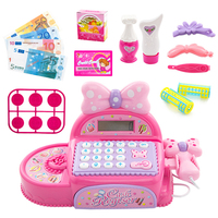Children Pretend Shopping Game Toys Electronic Cashier Girls Play House Electronic Supermarket Toys Simulation Drama Props Gifts