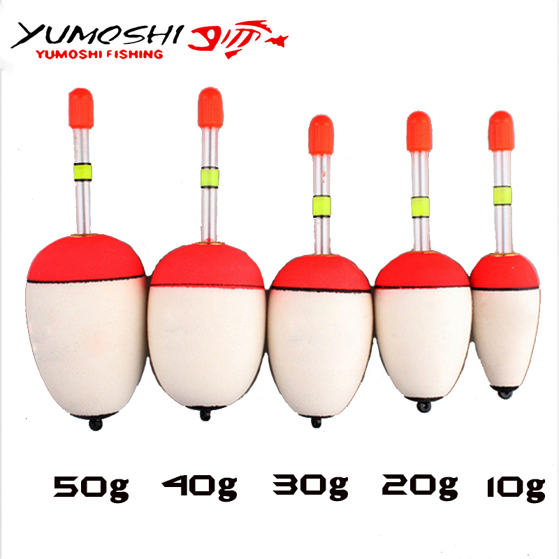 High Quality EVA Fishing Floats Set 5 piece/Set 10g-50g Sea Fish Float with Sticks Fishing Tackle Fishing Accessories