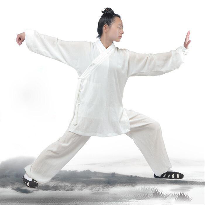 Grau de alta Qualidade Unisex Linho Wudang Tai Chi roupas roupas dos homens e das mulheres do exercício da manhã artes marciais Kung fu trajes